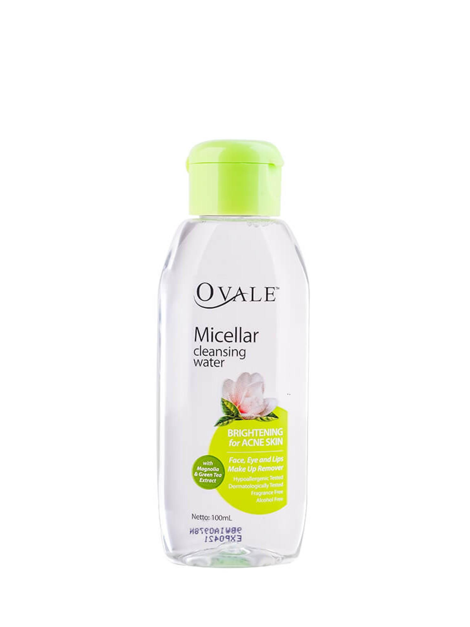 Мицеллярная вода для очищения кожи лица с экстрактом магнолии и зеленого чая для проблемной, склонной к появлению прыщей кожи