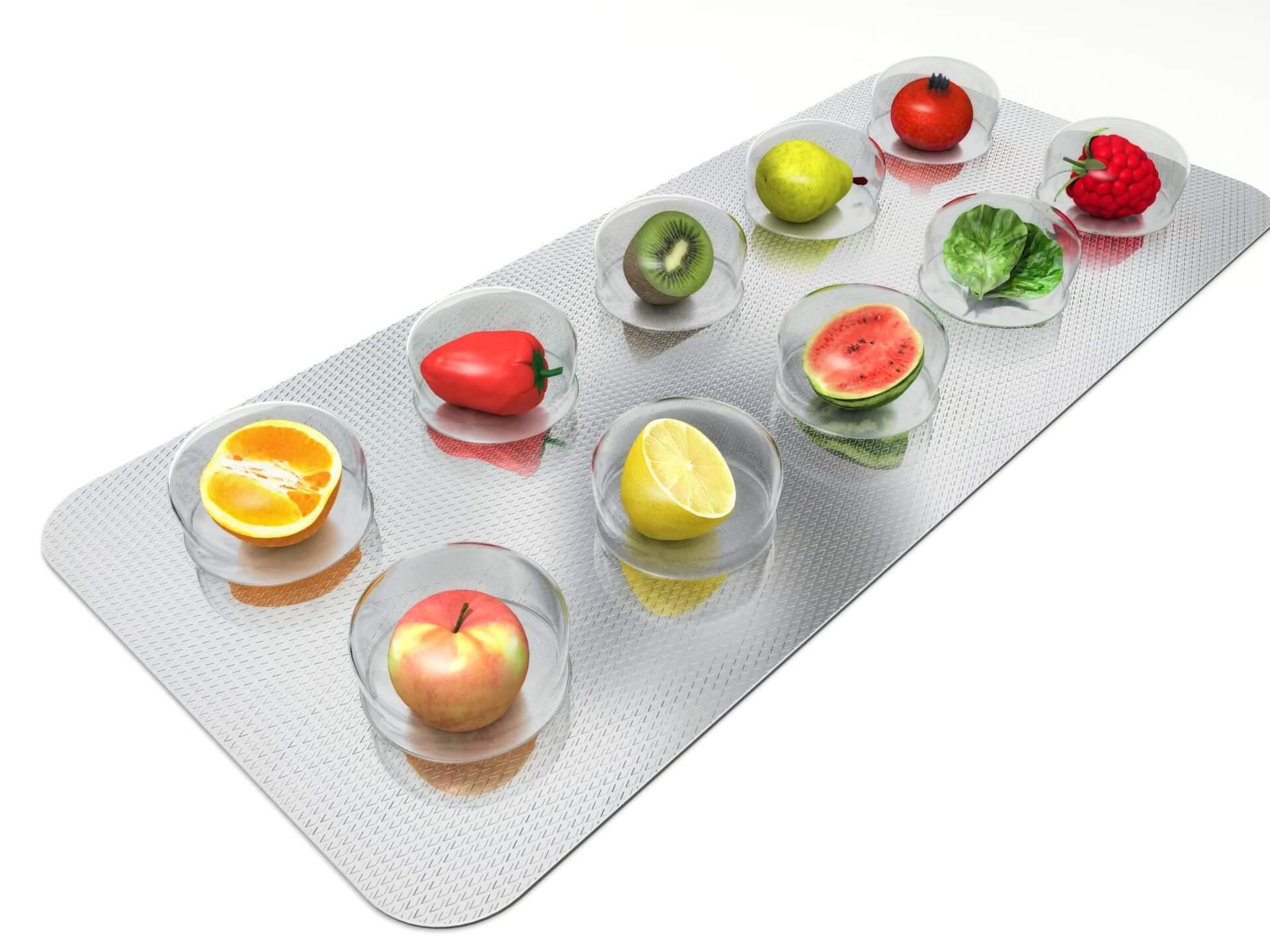 Прием витаминов внутрь