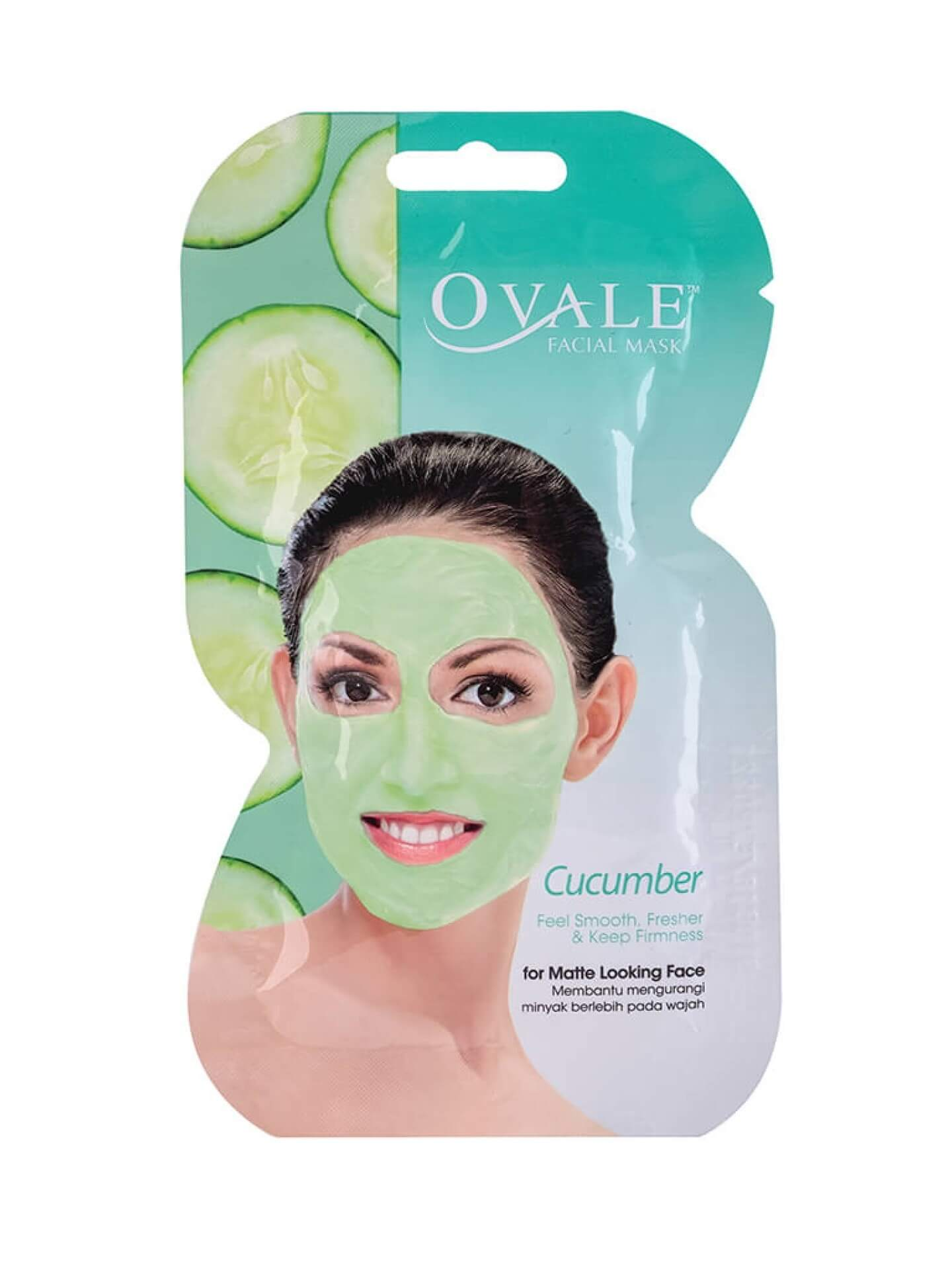 Устранить жирный блеск с маской  Facial Mask Cucumber